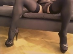 Crossdresser masturbation and cumshot