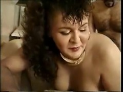 Vintage milf TS does her best