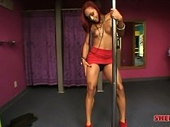 Hot ebony stripper Hailey