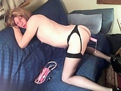 Debbie Heart In Black Stockings