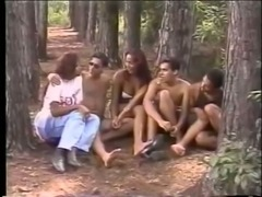 Hot orgy in the forest