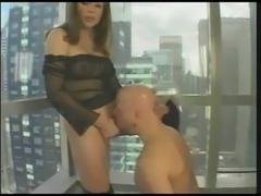 Sexy mature TS gor hot blowjob