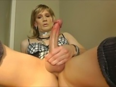 Sexy mature CD cums a lot