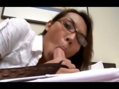 Whore in specs sucking & banging