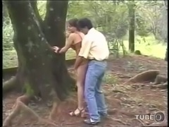 Rimming & deep ass fuck in the forest