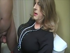 Tammy Fellatrix provides toilet service
