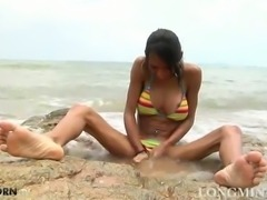 Long cock babe Mint on an island