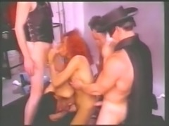 Interracial gangbang scene