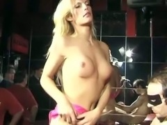 Blonde shemale in group action