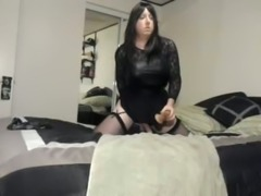 Cindi fucks her ass with dildo