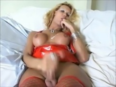 Hot lingerie trannies fucked compilation