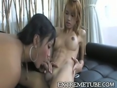 Asian Tbabes have fun
