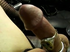 Carmen cumming in a garage