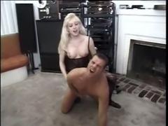 Horny blonde Tgirl fucking dude