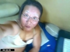 Mature asian CD solo