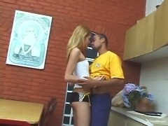 Hot Teen Shemale With Horny Dude