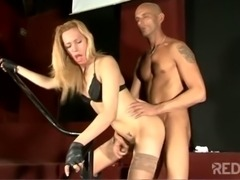 Hot Tgirl ass drilled in doggy