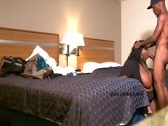 Fat Ebony Tranny Juicy Nikki enjoys a BBC