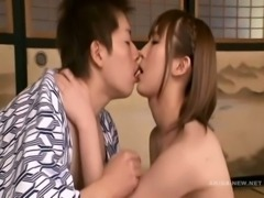 Asian teen Tgirl plugged