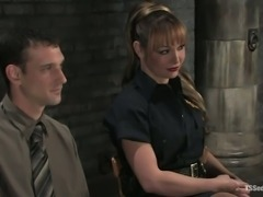 TS cop Danielle fucks inmate