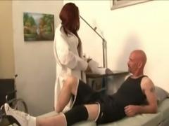 Redhead TS nurse fucked hard