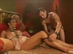 Naughty guys dominated by trannies