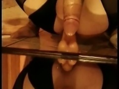 Crossdresser Deibly No Hands Cumshot