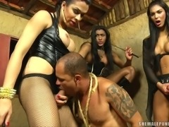 Agatha Daphynne and Yasmin nailing guy
