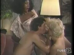 Hot vintage trio ass banging
