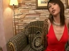 Stunning asian tranny solo