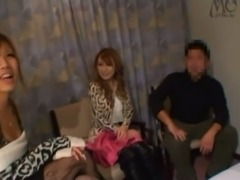 Japanese threesome sex