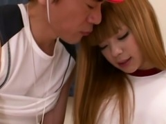 Petite ladyboy pleases a trainer