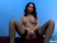 Stunning brunette hot solo