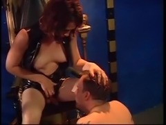 Mad domination and spanking from a redhead TS bitch