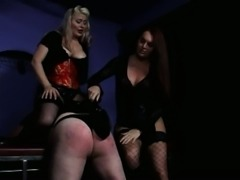 Pervert tranny and tart get a sex slave