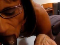 Sucking a black guys cock...