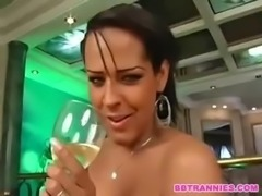 The hottest Tgirls behind the scenes