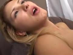 Sexy blond tranny screwing