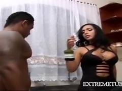 Brunette with big boobs gets deep anal penetration