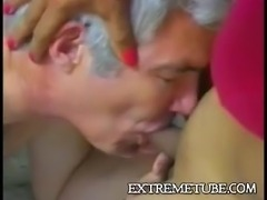 Furious oral sex for mature couple