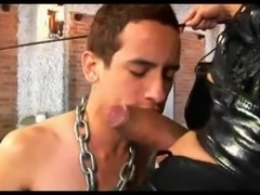 Lustful brunette cums on her boyfriend after bdsm anal sex