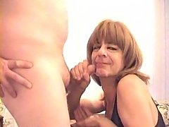 Amateur Mature Tranny Blowing A Dong