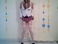 Hot School Tranny Strip