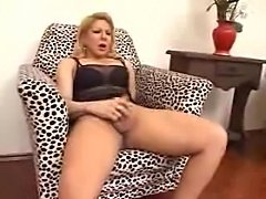 Crazy burning shemale gets cum on her boobs