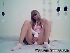 Cute Amateur Tgirl Wanking