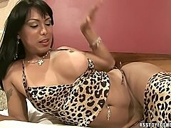 Fabyana Kanavo in sexy leopard lingerie