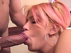 TS Slut With Lollipop Banged Hard