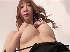 Cute asian ladyboy May gets fucked then cums part 2