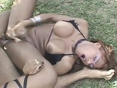 Ass Toyed Tranny Banged Outdoor
