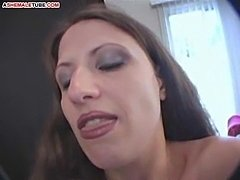 Female mistress pouring slaps